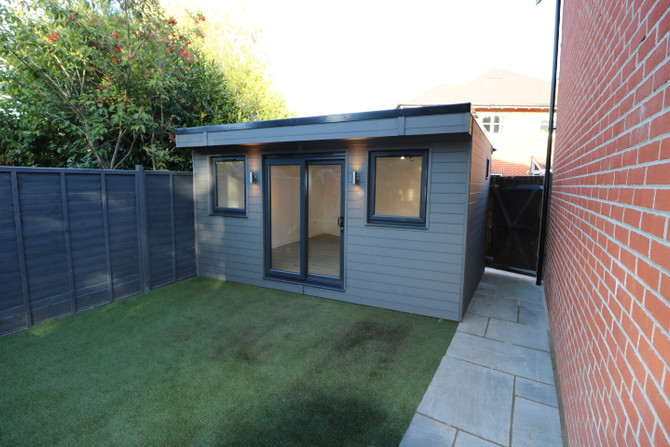 Composite Cladding on a Garden Room