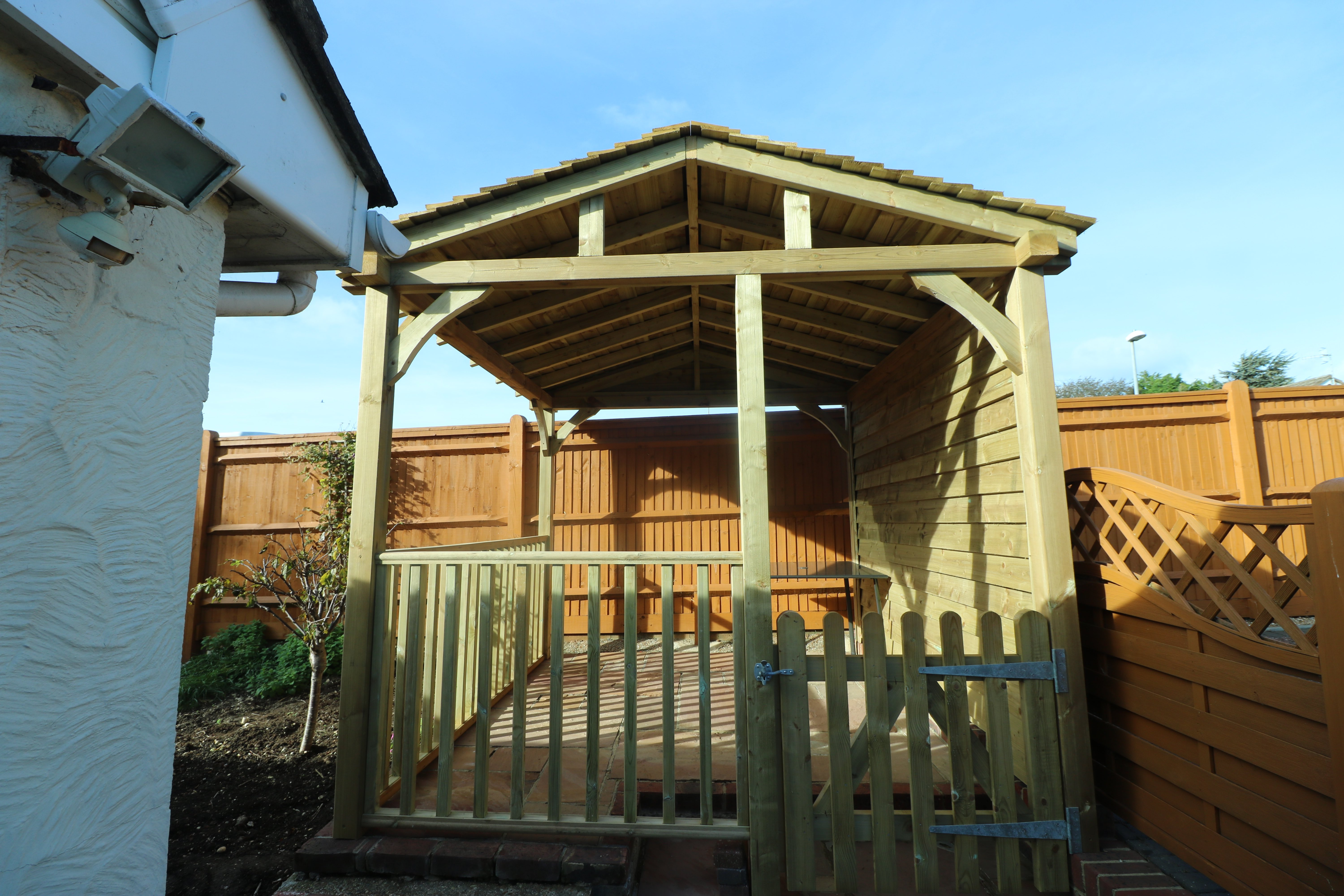 Gazebo with Balustrade