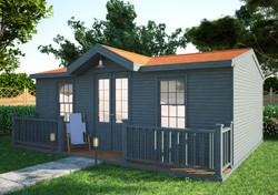 Rustic Summerhouse with Veranda