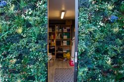 Garden Office with Artificial Green Wall