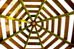 Hexagonal Slatted Gazebo