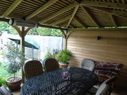Veranda with adjoining Shed