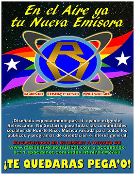 RADIO UNIVERSO MUSICAL PROMO FLYER 2019.