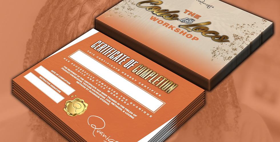 Double Sided Course Certificates