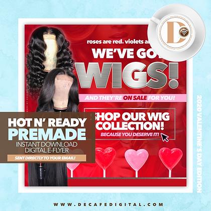 V-Day Wigs Silver