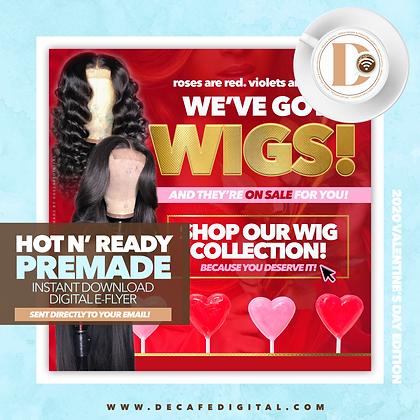 V-Day Wigs Gold