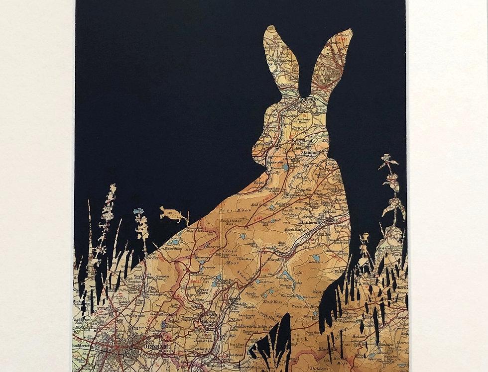 Saddleworth Hare A3 Print