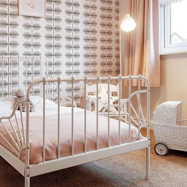 Scandinavian little girls bedroom