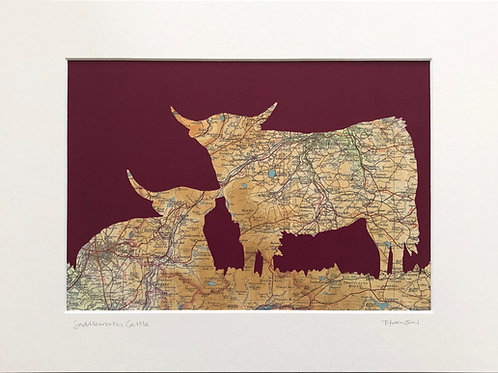 Saddleworth Cattle A3 Print