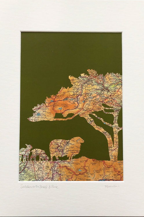 Saddleworth Sheep A3 Print