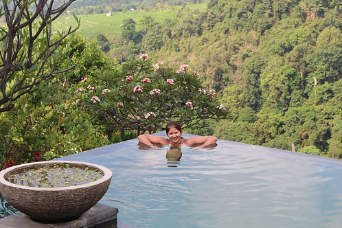 Swimming at Mt Rinjani Lodge