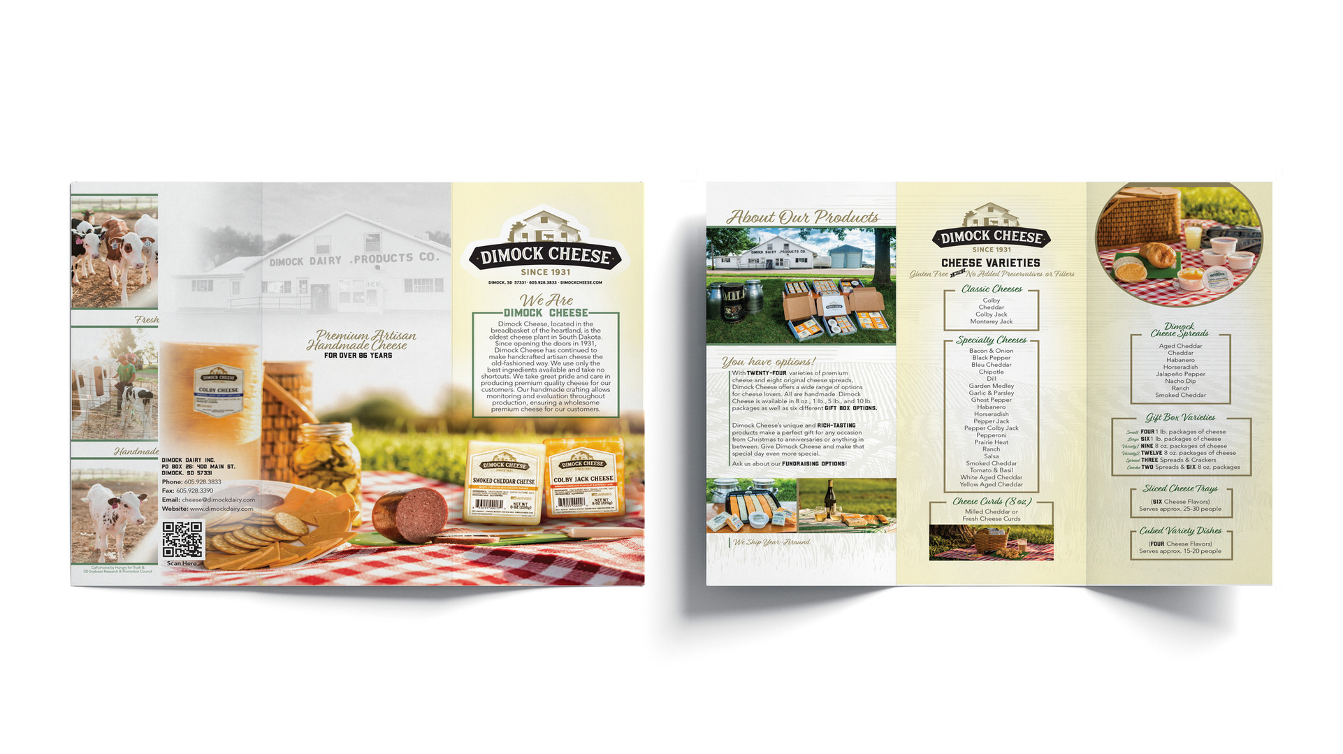 Dimock Cheese Marketing Brochure