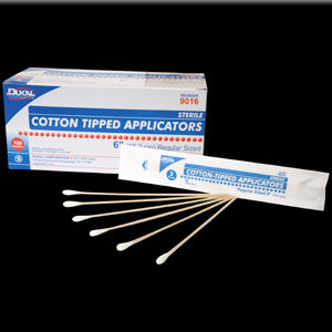 "Applicator Cotton Tip 6"" Sterile 2/Pack  100 Packs"