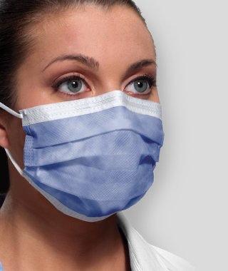 Procedure Mask Isofluid™ Pleated w/Earloops  Blue, 50/ Box
