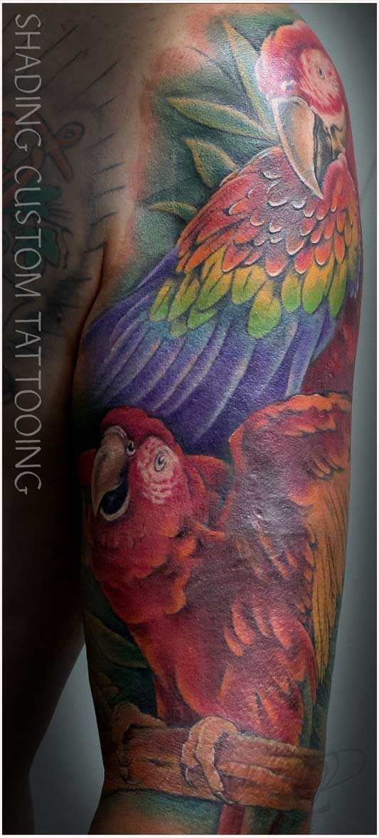 Tattoo colour - Tatoeage kleur