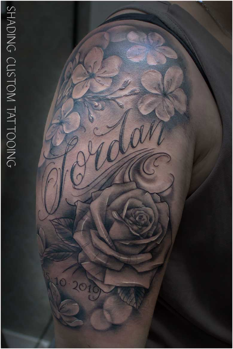 bloemen naam tatoeage