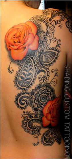 Tattoo - Tatoeage kleur mandala