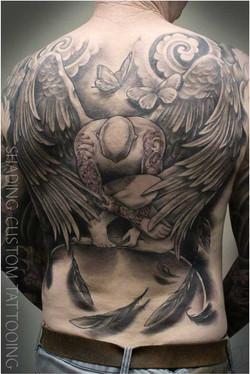Back tattoo angel