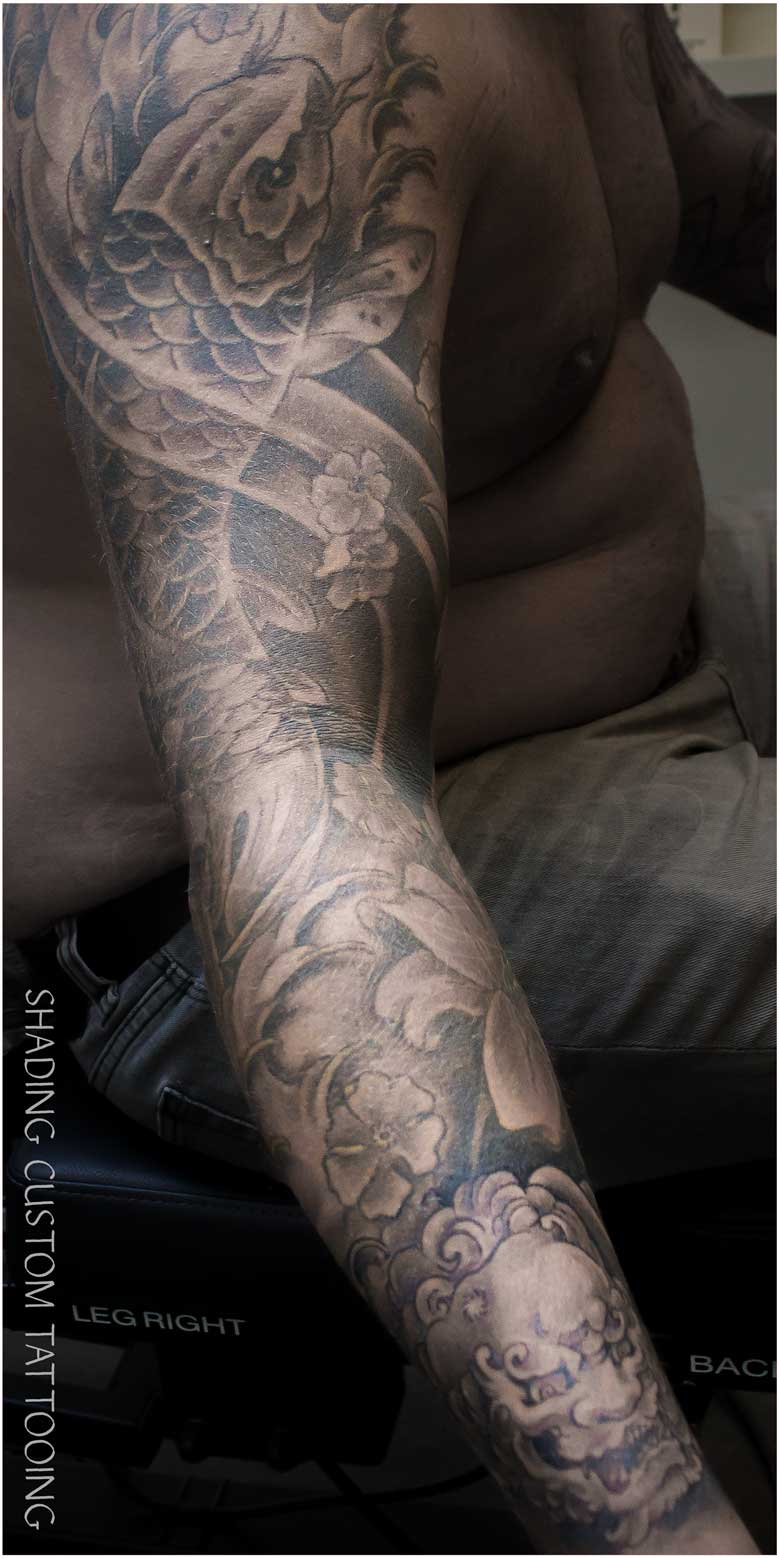 koi sleeve tattoo fu