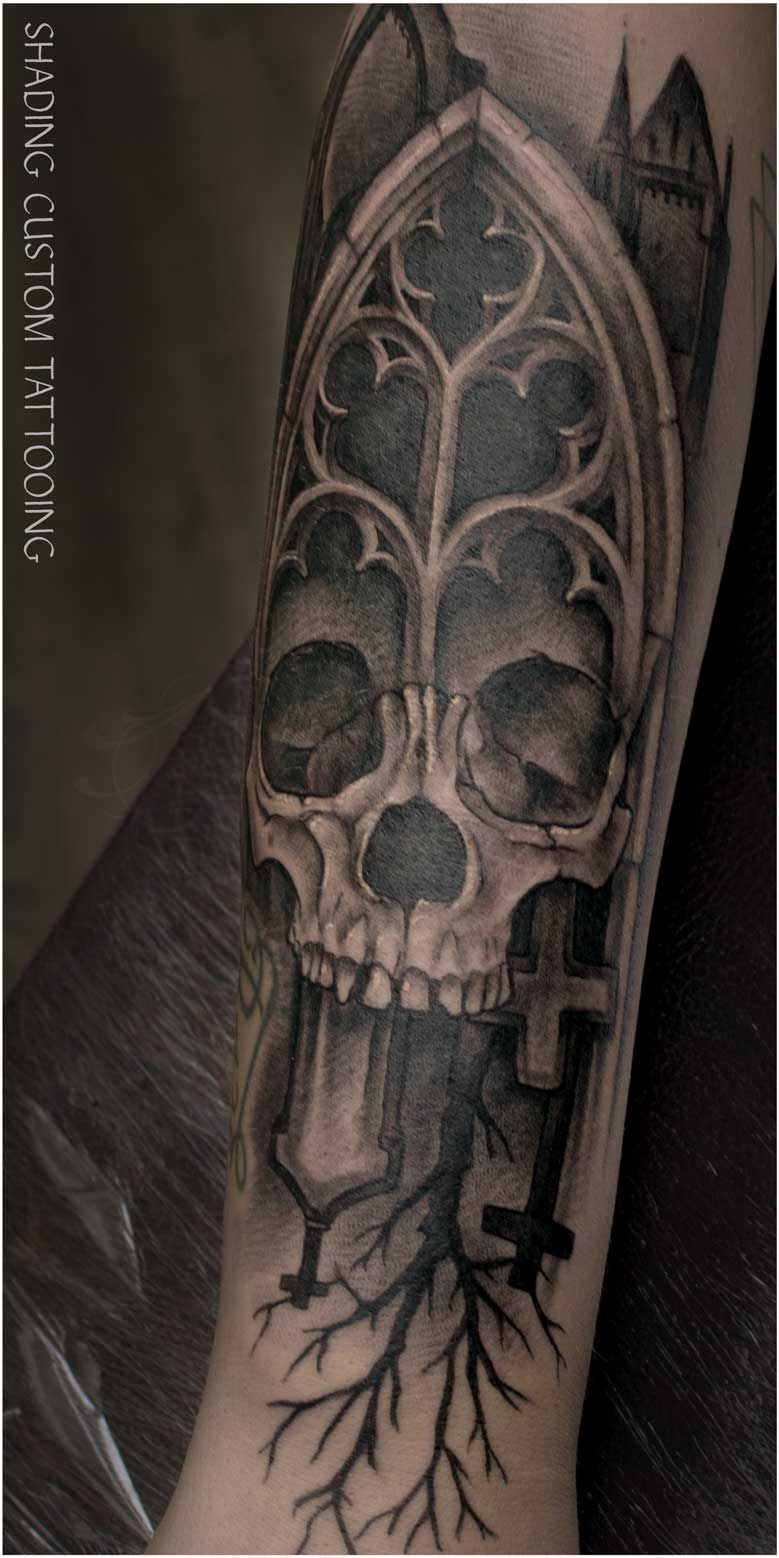 Skull tatoeage