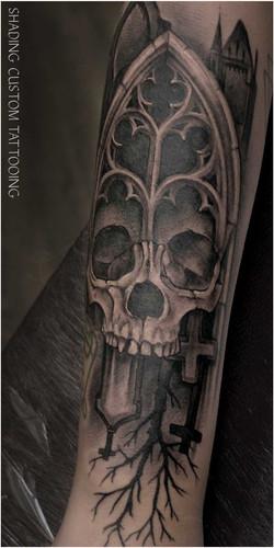Skull tatoeage