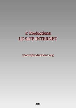 Le Site Internet F. Productions