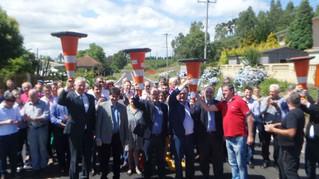 Sartori inaugura obras de restauração da ERS-448, em Farroupilha