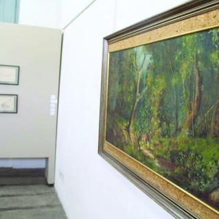 Obras de Ênio Pinalli estão expostas na Estação de Montenegro