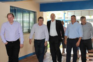 Prefeitos do Vale do Caí prestigiam visita do Ministro
