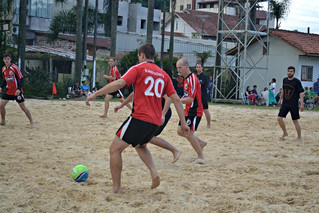 Definidas as semifinais da copa de futebol de areia