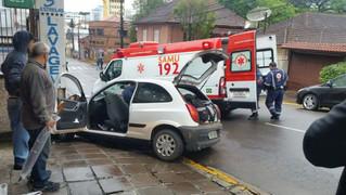 Criança fica gravemente ferida em acidente no centro de Bento Gonçalves