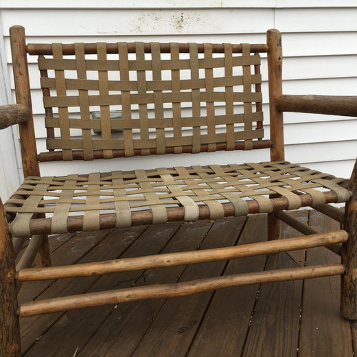 How to restore the finish on bark-covered furniture
