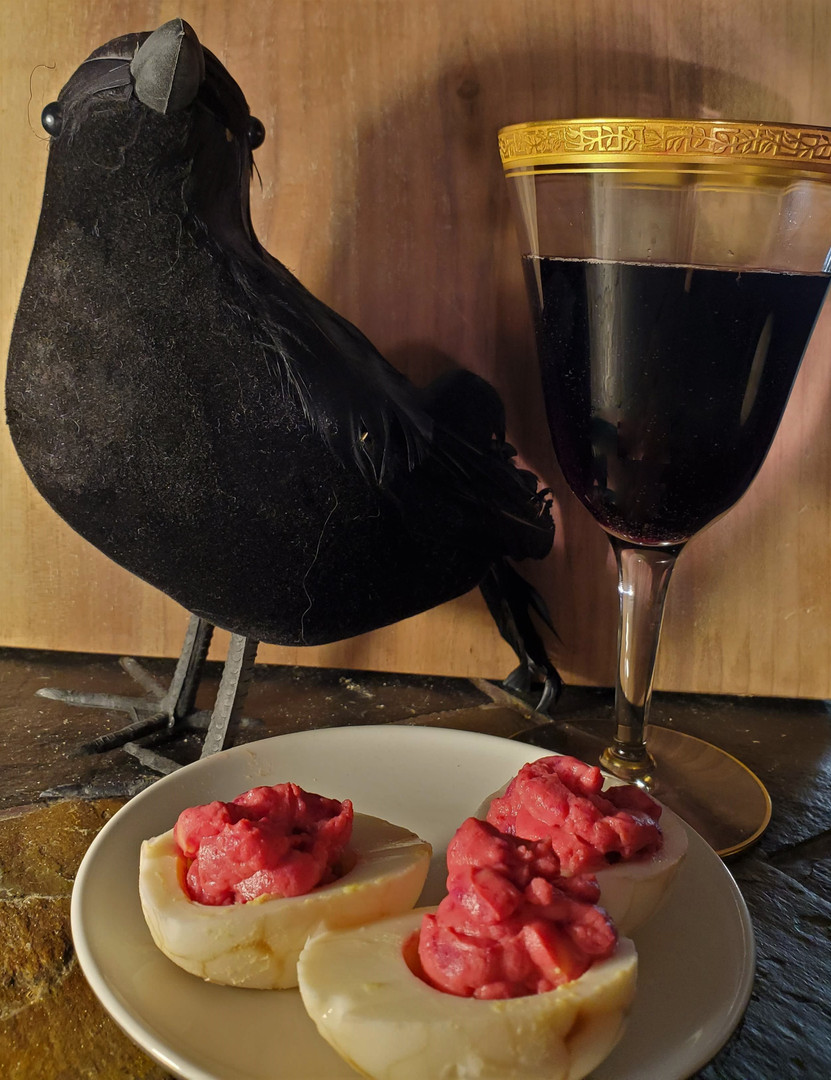 Raven, eggs, and wine.jpg