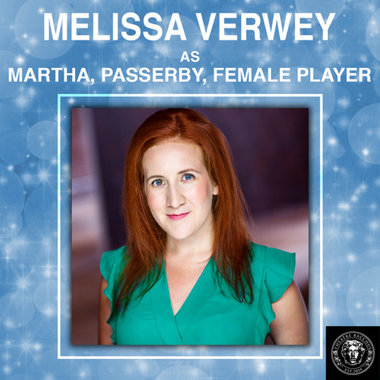 Melissa Verwey is an international actress, performing in 20 plus plays over the past decade. She also has numerous credits in production and marketing within the arts and entertainment industry. You can follow Melissa on her various adventures by watching her YouTube channel Mellie Telly. A few highlighted roles in the GTA include Shakespeare in Hollywood, Robin Hood, Jenny's House of Joy, Leading Ladies, and The Crucible.  Melissa is thrilled to be part of 'A Christmas Carol', a show that is part of her family holiday traditions!