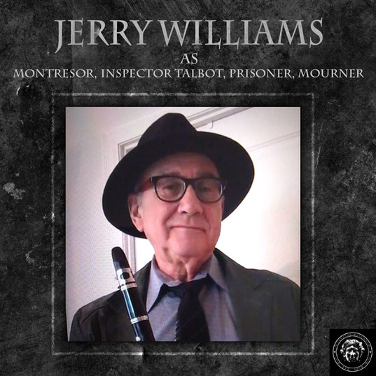 Jerry Williams is a stage actor a lot, a TV actor somewhat, a film actor rarely and a playwright, although never produced.  He spends much time these days trying to train his new kitten, which is almost impossible, and is spending more time on his new Ebike.  When not doing any of these things he enjoys playing his clarinet 🎶