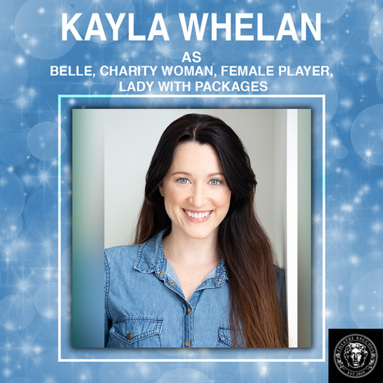 Kayla Whelan is honoured to be working with the talented cast and crew of Theatre Bacchus' A Christmas Carol, which has long been one of her favourite stories.  She has voiced characters in the Canadian Screen Award nominated Shuyan Saga, numerous podcasts, and has provided narration for Ski Television in China.  Happy Holidays - enjoy the show!