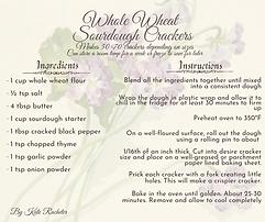 Bacchus Bite - Whole Wheat Sourdough Crackers