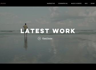Cinematographer Website Template WIX - Cinematographer website templates