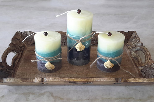 Seashell Wrapped Candle Theme