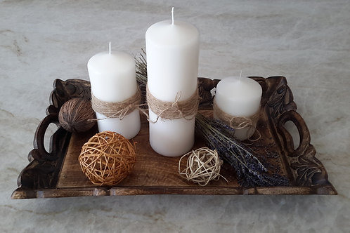 Lavender Candle Theme Tray