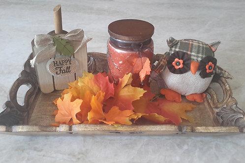 Seasonal Owl Gift Tray