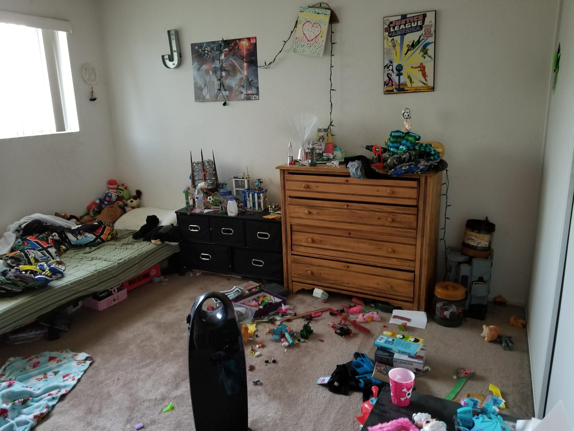Bedroom Before Organized