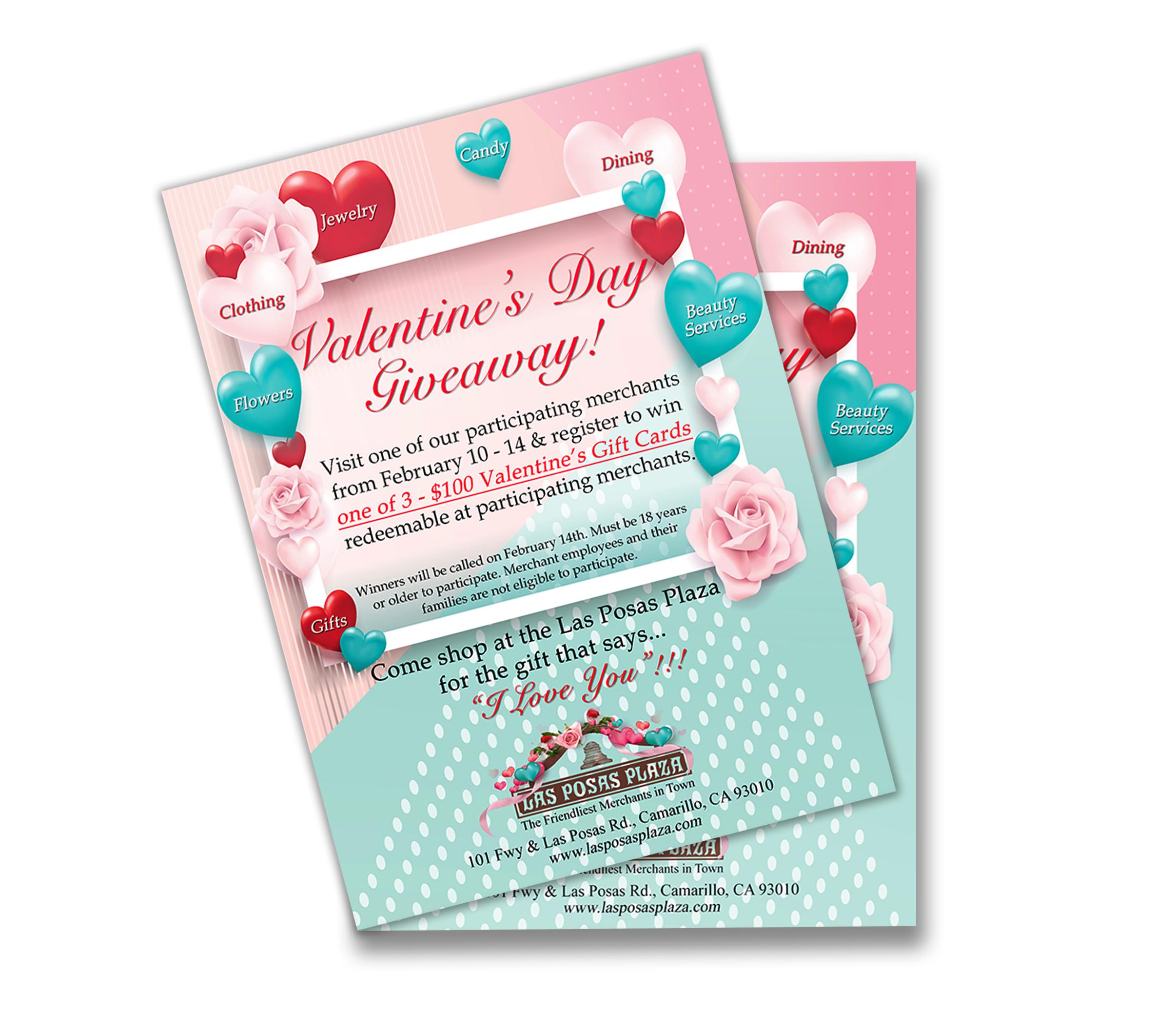 Valentine's Flyer Las Posas Plaza 2020
