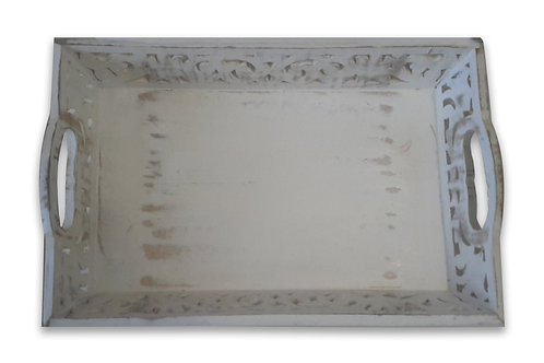White Washed Deep Tray