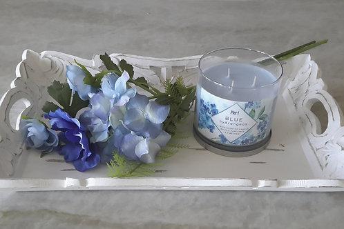 Blue Hydrangeas Theme Tray