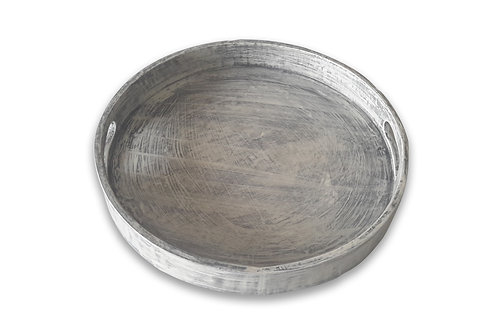 Wood Round Tray