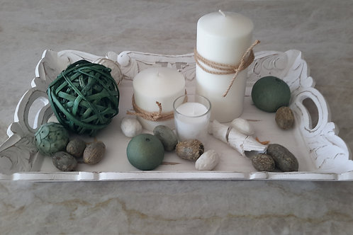Tranquil Sage Candle Tray