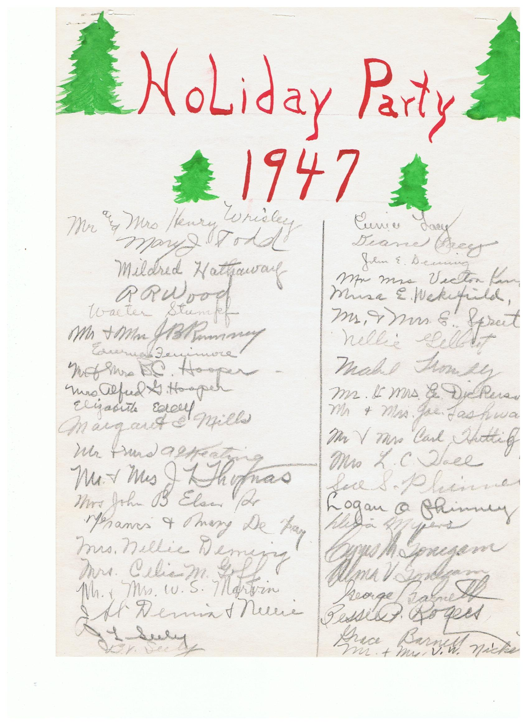 Holiday Party 1947