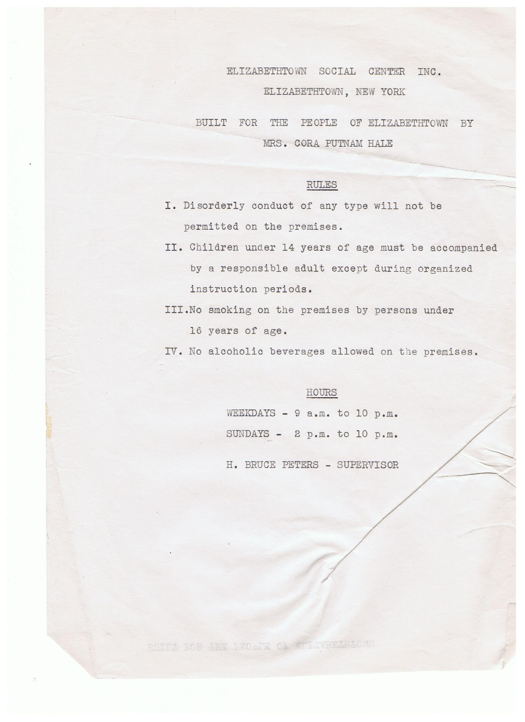 Rules 1940