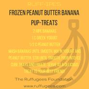 Frozen Peanut Butter Banana Pupsicles